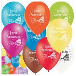 10 ballons happy birthday