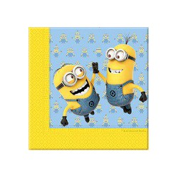20 serviettes lovely minions