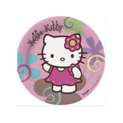 10 assiettes hello kitty
