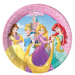 8 assiettes princesses & animals