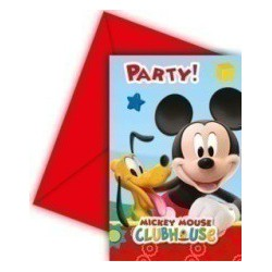 6 invitations mickey playful