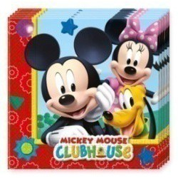 20 serviettes mickey playful