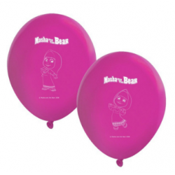 8 ballons masha and the bear