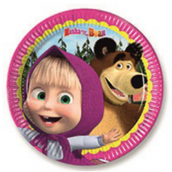 8 assiettes masha and the bear
