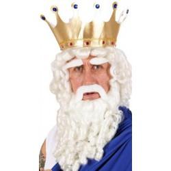 Perruque dieu de l'olympe avec barbe moustache cache sourcils