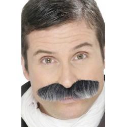 Moustaches de militaire grises auto adhésives
