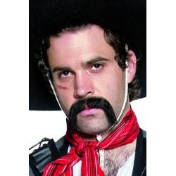 Moustaches mexicain noires effet naturel- auto adhésives