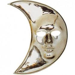Masque lune argent plastique
