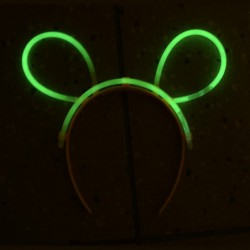Oreilles de souris lumineuses 2.5mm x 200 mm ass 4/6 h