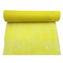 Chemin de table jaune  30cmx 5m