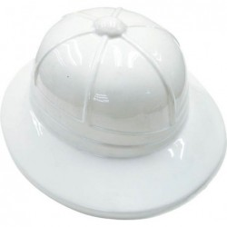 Chapeau explorateur pvc adulte blanc