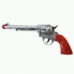 Pistolet cow boy en plastique 31 cm