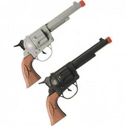 Pistolet cow-boy plastique adulte (marron/gris assorti)