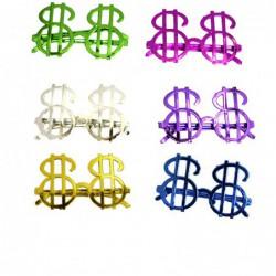 Lunettes dollar sans verre couleurs assorties