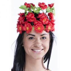 Couronne tahitienne à fleurs couleurs assorties