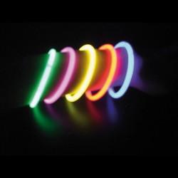 Tube de 100 bracelets lumineux 20 cm 4/6