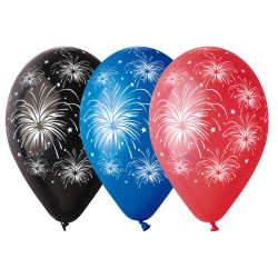 Ballons multi couleurs feu d'artifices
