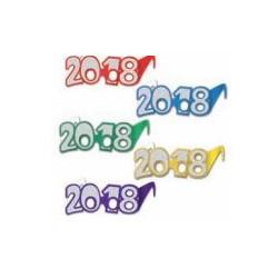 Lunettes carton paillette 2018 couleurs assort