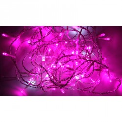 Chaine lumineuse 80 leds 8 m fuschia int/ext 220v