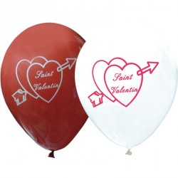 ballons saint-valentin blanc/rouge