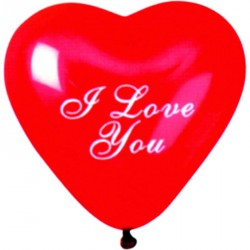 "ballons de saint valentin cœurs "" i love you ""rouge"