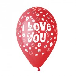 "ballons saint-valentin ""i love you ""rouge"