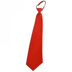 Cravate satin rouge