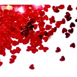 Confettis cœurs rouges 14 grs