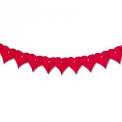 Guirlande cœur rouge 3m