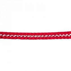Guirlande boa de 17cmx4m rouge