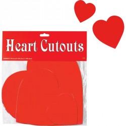 Cœurs en carton imprimés