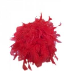 Boule de plume rouge...