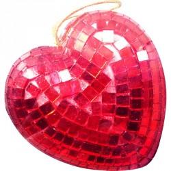 Cœur à facettes rouge 9 CM...