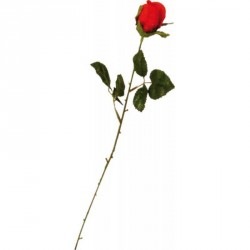 Rose rouge bouton soie...