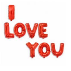"Foil ballon lettre "" I LOVE..."