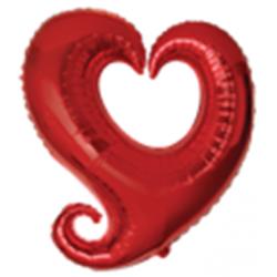 Ballon mylar rouge cœur...