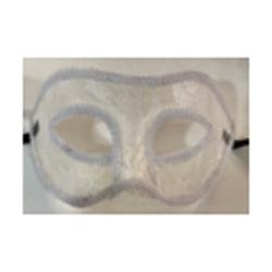 Masque blanc en dentelle