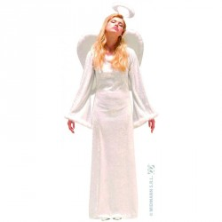 Costume ange velours robe longue