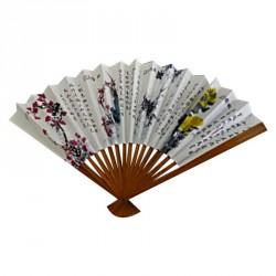 Éventail chinois en papier décoré