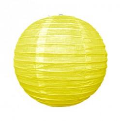 Lanterne japonaise en papier 25 cm jaune