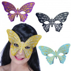 Loup papillon paillettes couleurs assorties