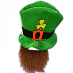 Haut de forme st Patrick avec barbe en mousse