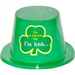 Chapeau haut de forme saint Patrick pvc