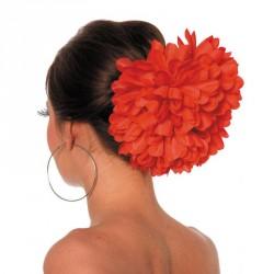 Grosse fleur sur barrette...