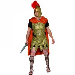 Costume de gladiateur noir or et rouge