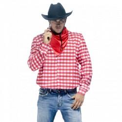 Chemise à carreaux western