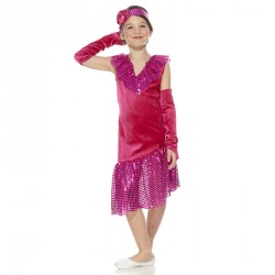 Costume charleston rose/fushia 5/7 ans