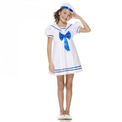 Déguisement petit marin pour  fille 5/7 ans