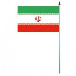 Drapeau plas 9.5 x 16 cm Iran