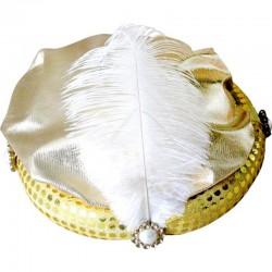 Chapeau de pacha plume d'aigrette